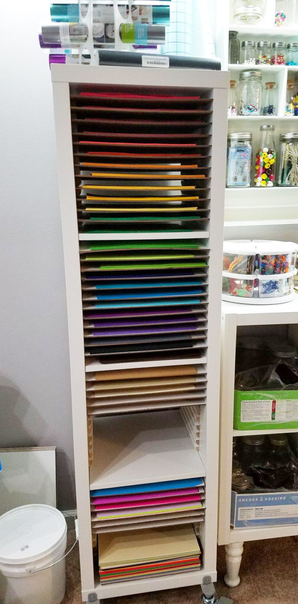 Paper Organizer DIY  12x12 Paper Storage DIY Vertical Organizer for Scrapbook