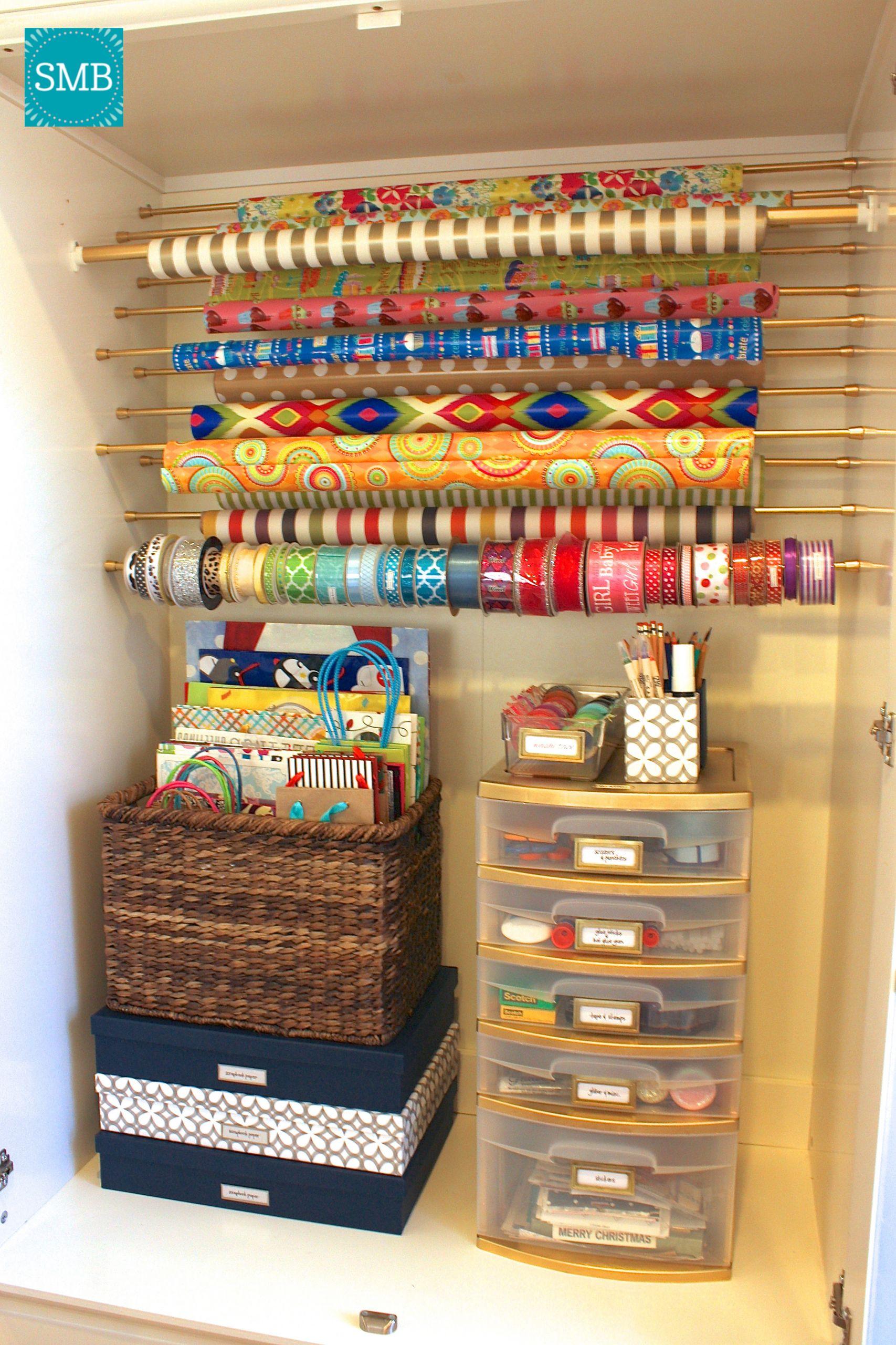 Paper Organizer DIY  DIY Wrapping Paper Organizer