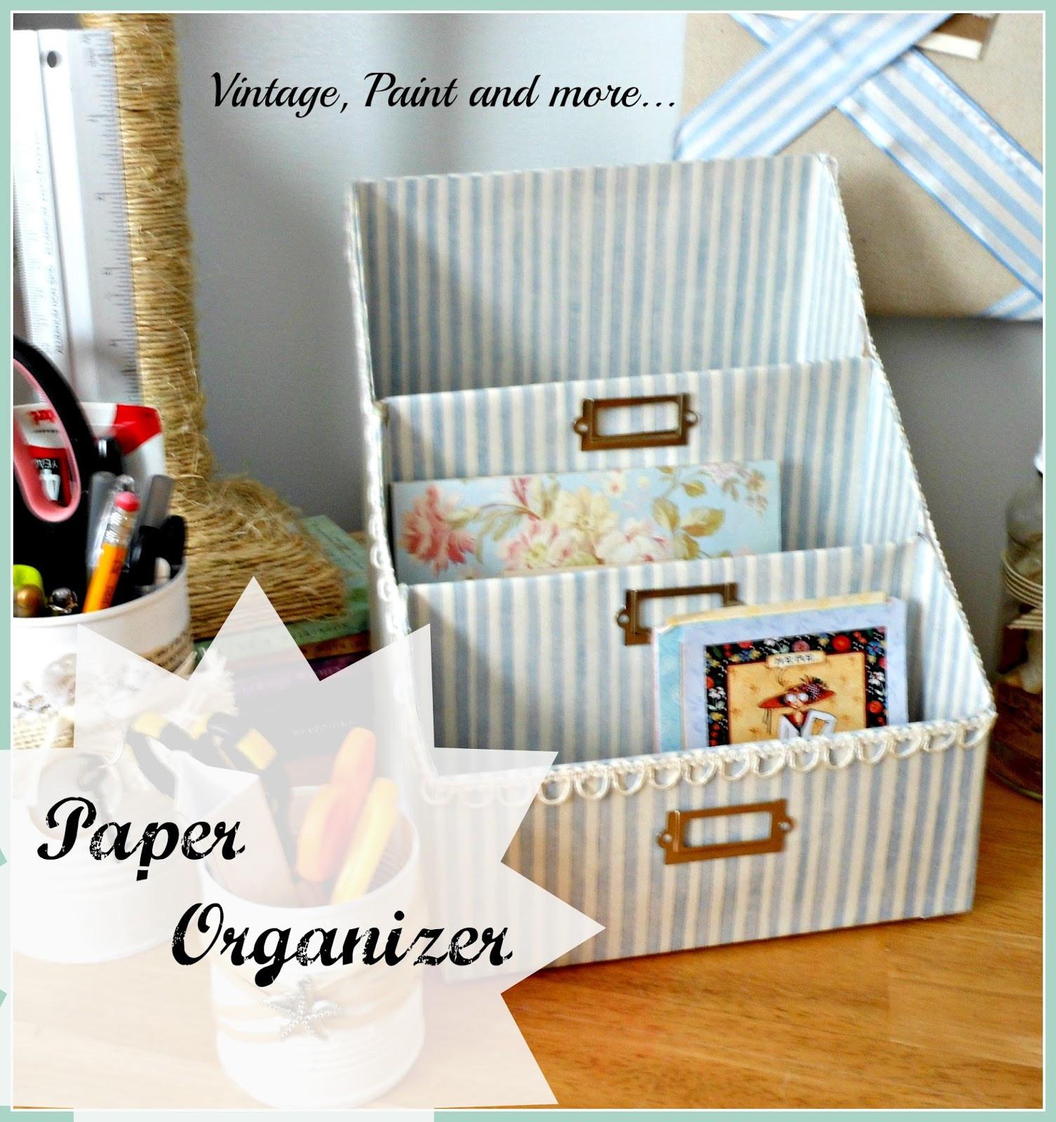 Paper Organizer DIY  Day 7 Organizing Paperwork 31 Cheap & Easy DIY
