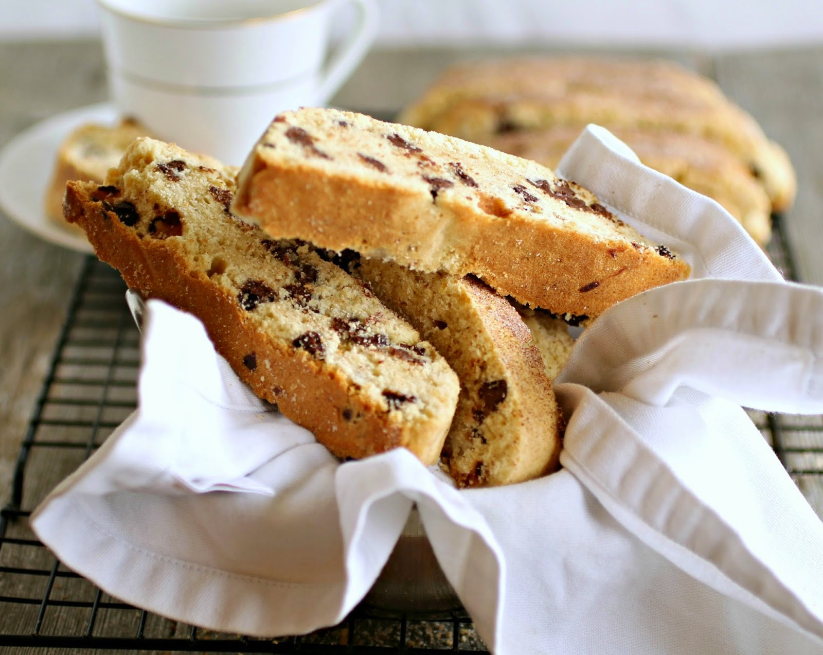 Passover Cookie Recipe  Hungry Couple Passover Chocolate Chip Mandel Bread