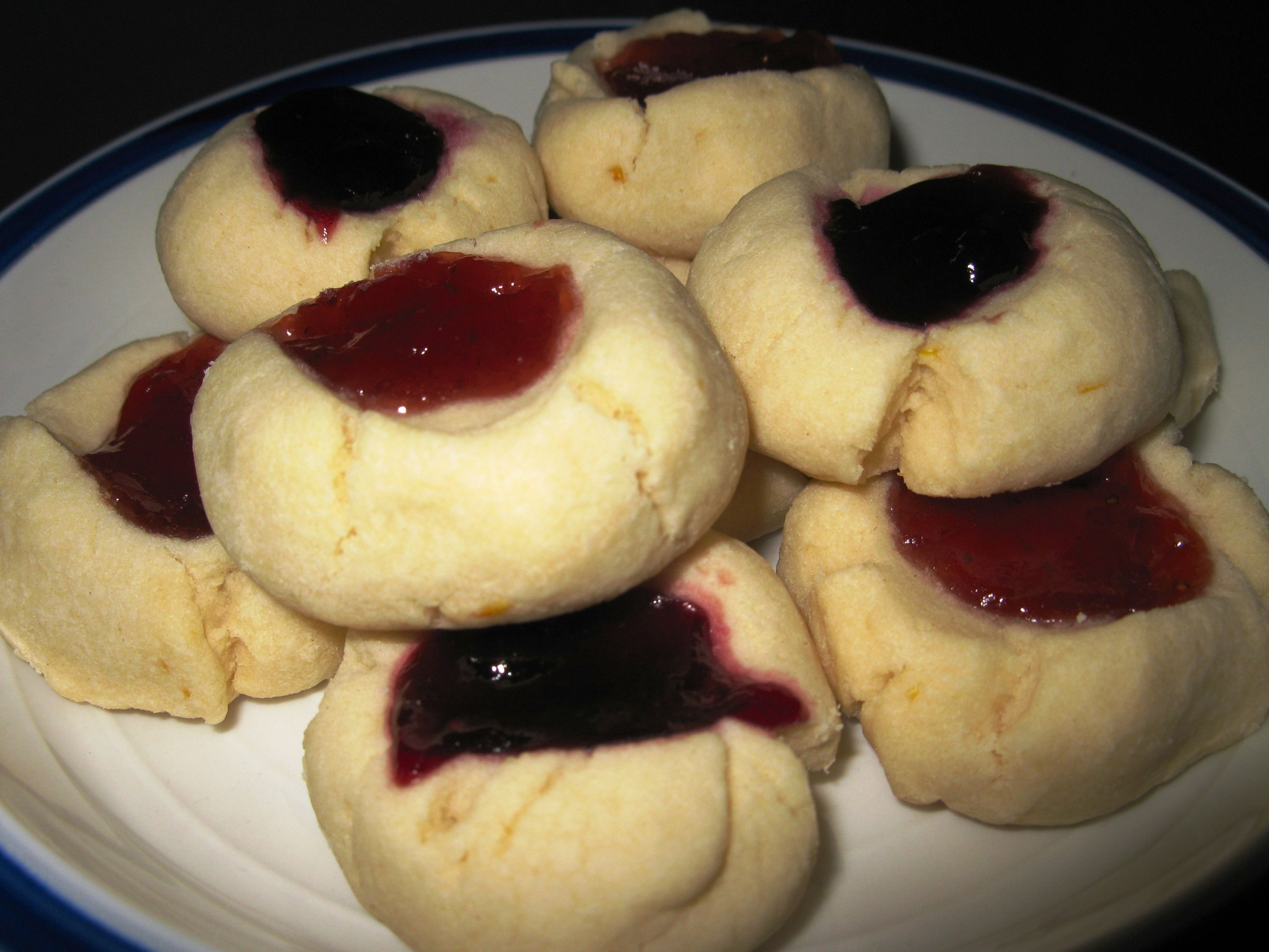 Passover Cookie Recipe  thumbprint cookies for Passover – dairy egg & nut free