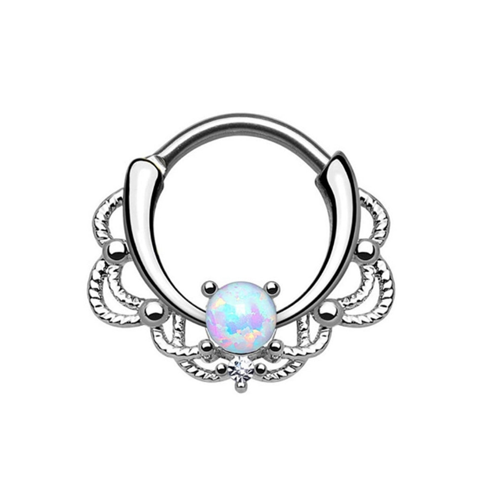 Peircings Body Jewelry  2017 New Fashion Lace Alloy Nose Hoop Nose Rings Body