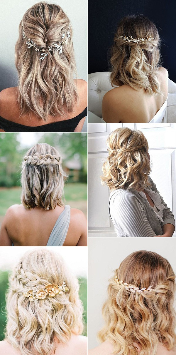 Pictures Of Wedding Hairstyles For Medium Length Hair  20 Medium Length Wedding Hairstyles for 2021 Brides
