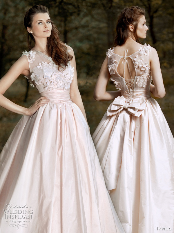 Pink Gowns Dress For Weddings  A Wedding Addict Light Pink Wedding Dress in Modest Style