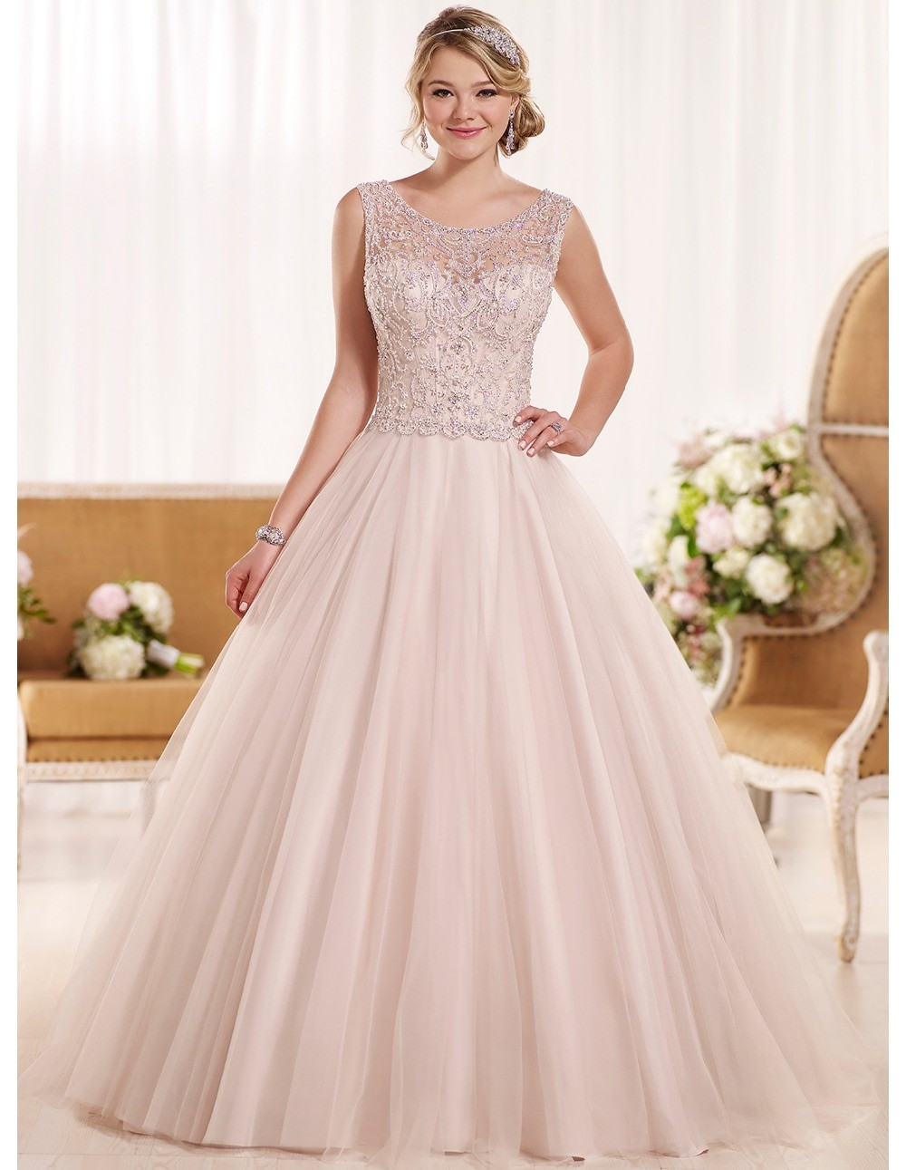 Pink Gowns Dress For Weddings  Cheap backless china blush pink wedding dresses plus