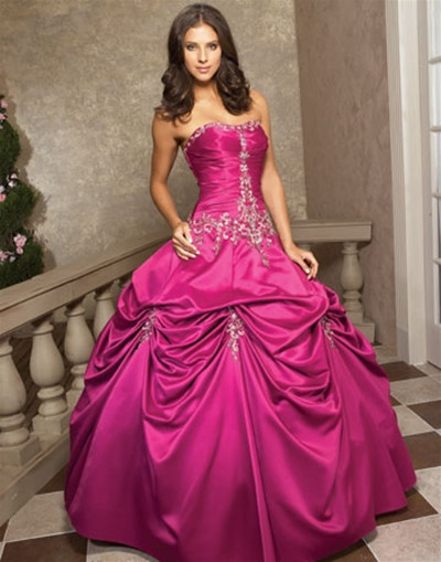 Pink Gowns Dress For Weddings  Big Pink Wedding Dress Designs For Girls Wedding Dress