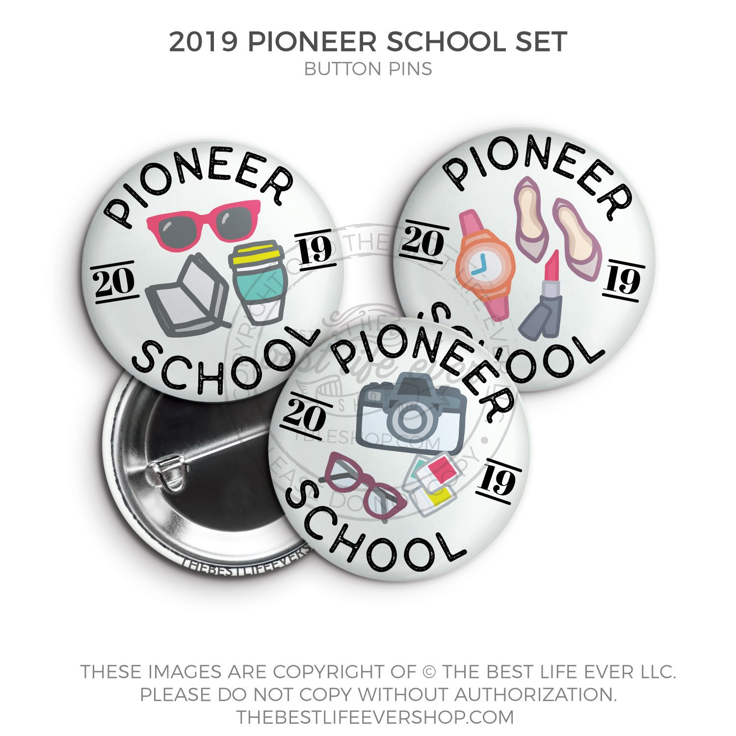 Pins Boton  2020 Pioneer School Button Badge Pins Set The Best Life