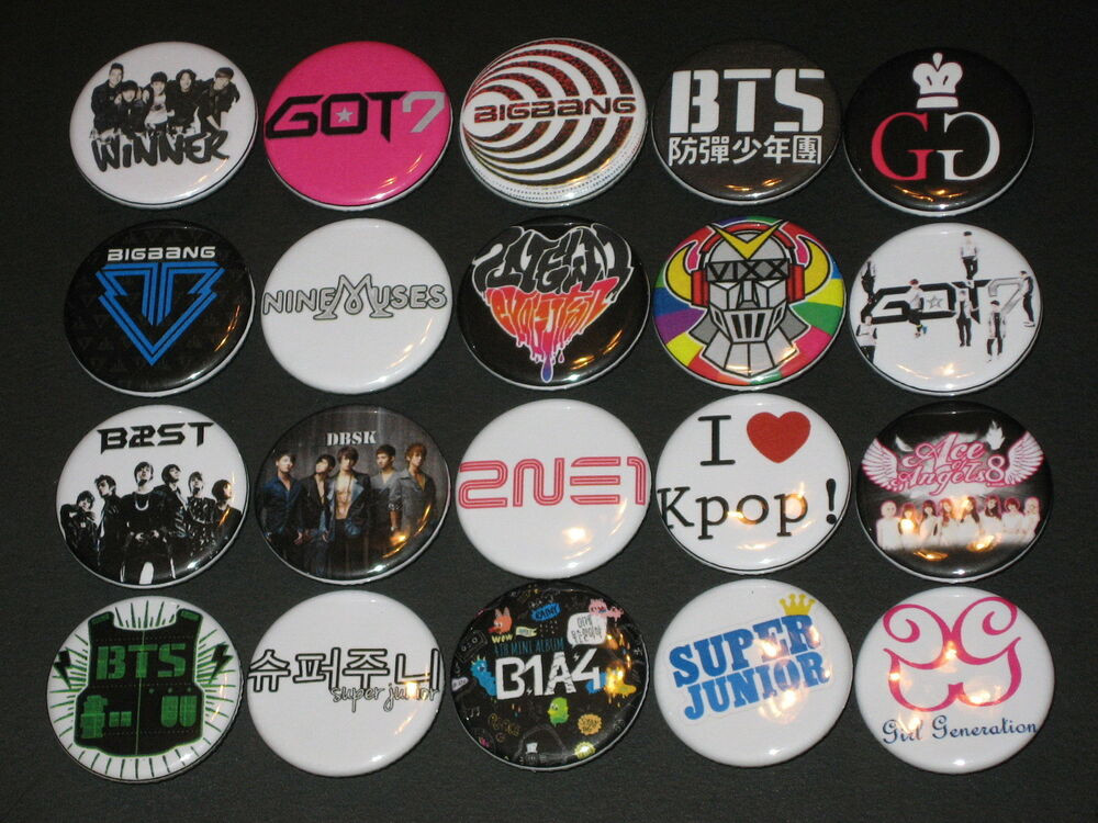 Pins Boton  KPOP K Pop Band Buttons Pins 20