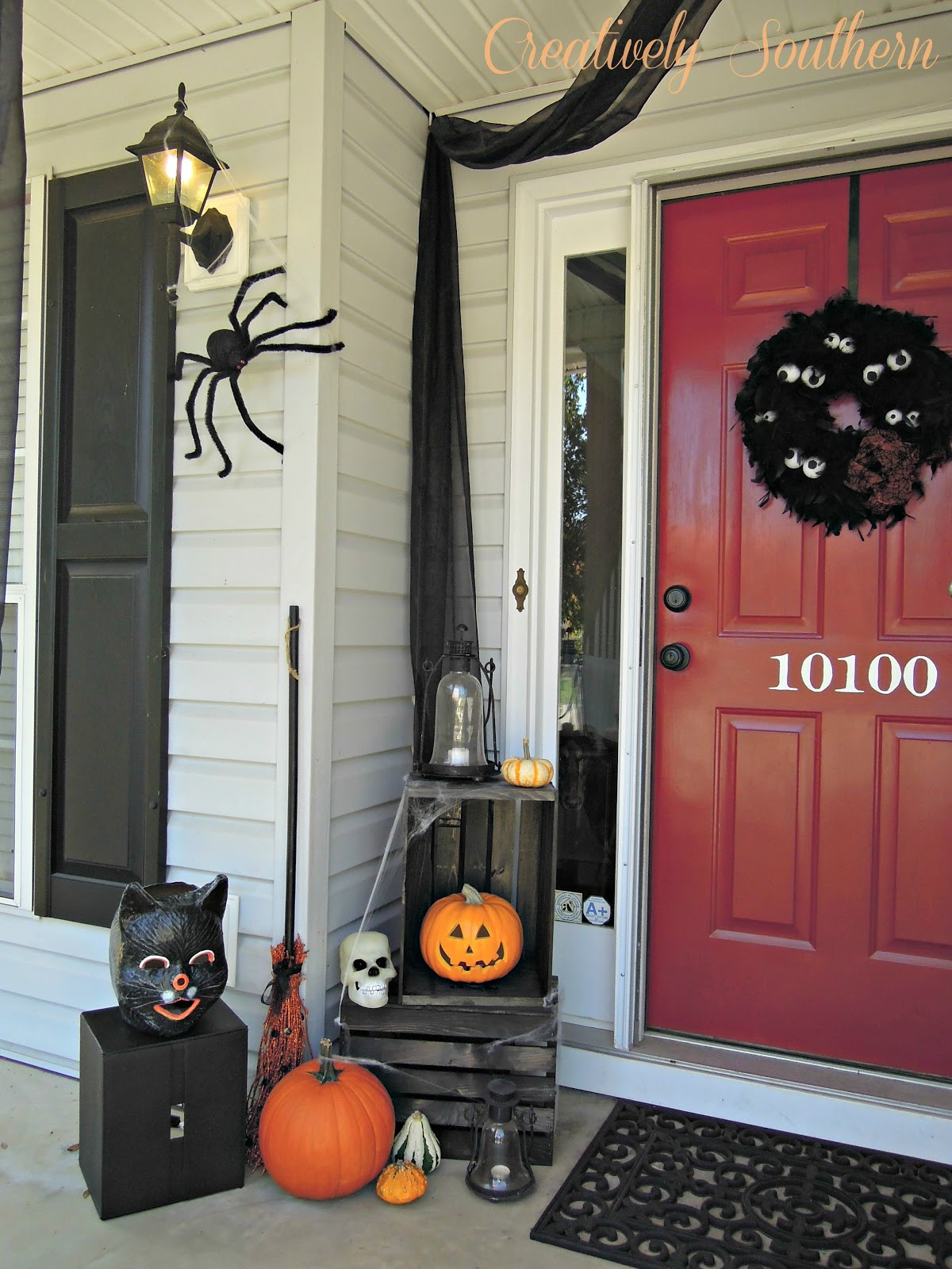Porch Decorated For Halloween  Halloween Porch Ideas