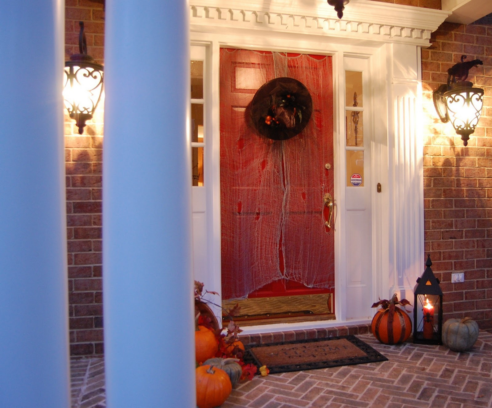 Porch Decorated For Halloween  Front Porch Decorated for Halloween