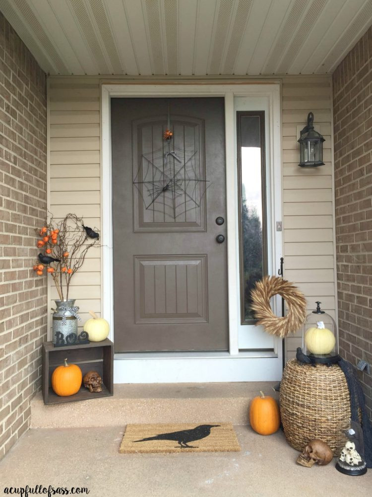 Porch Decorated For Halloween  Halloween Front Porch Decor Ideas A Cup Full of Sass