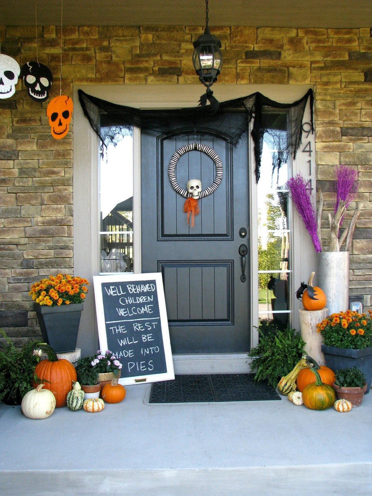 Porch Decorated For Halloween  Halloween Porch Life Love Larson