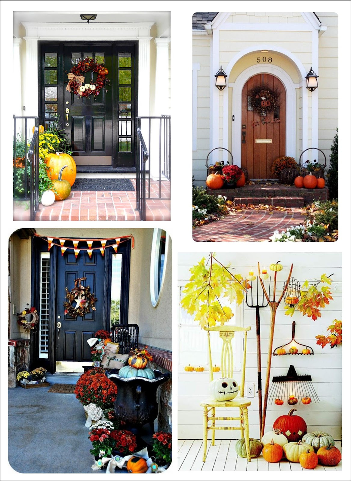 Porch Decorated For Halloween  It s Written on the Wall 90 Fall Porch Decorating Ideas
