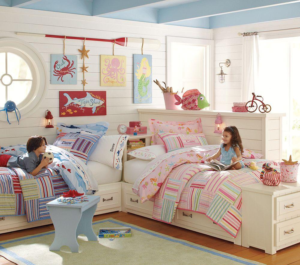Pottery Barn Kids Decor  Pottery Barn Kids Bright Stripes Bedding