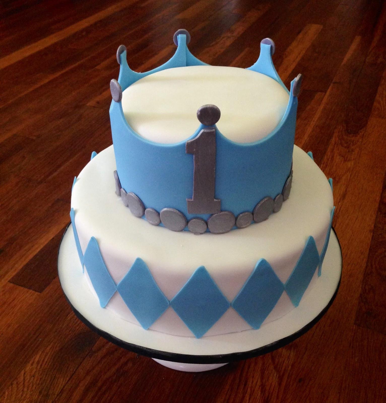 Prince Birthday Cake  Cakes by Becky Prince 1st Birthday Cake