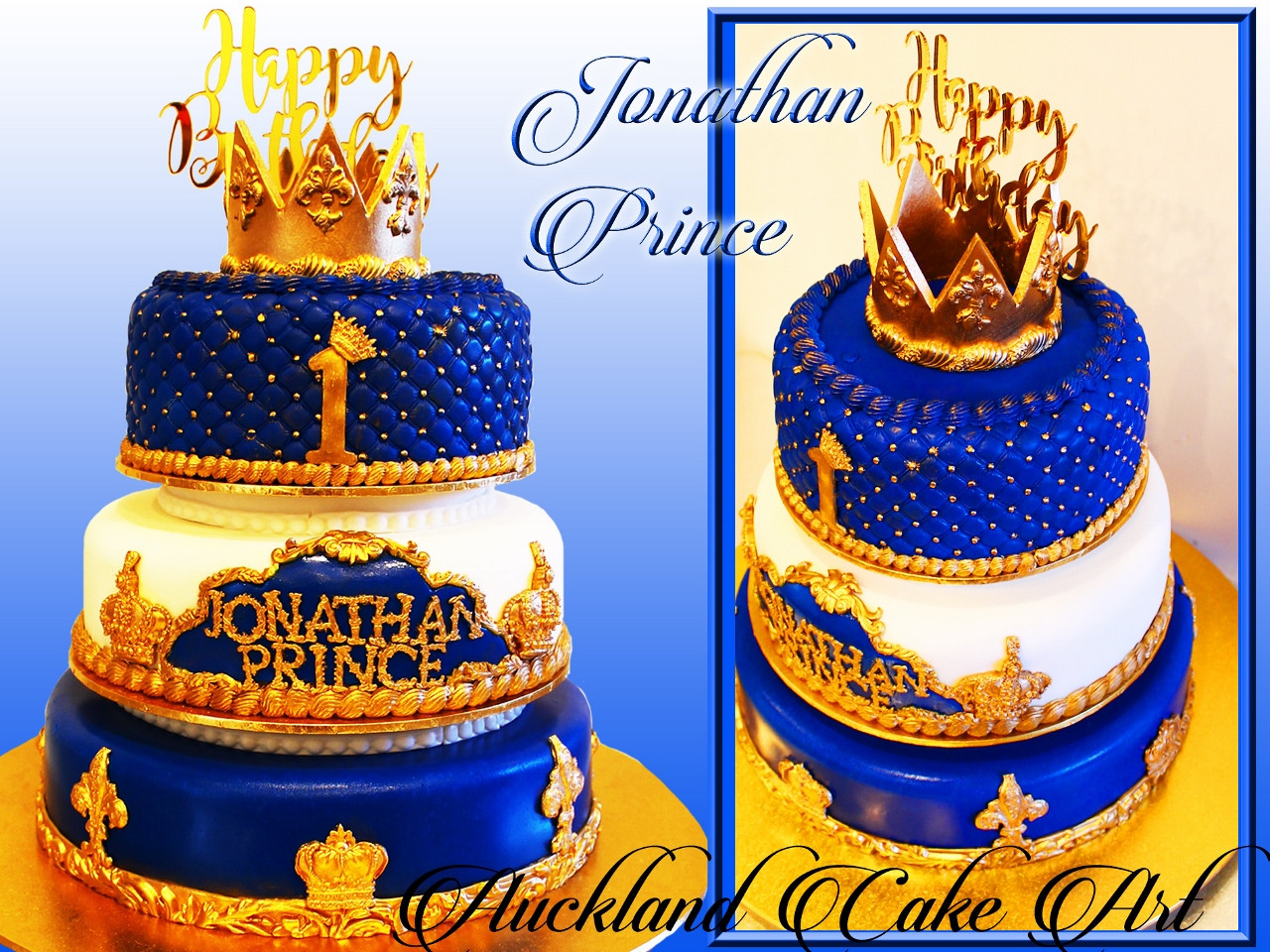 Prince Birthday Cake  Birthday Cakes – Baby Boys age 1 2yrs – Auckland Cake Art
