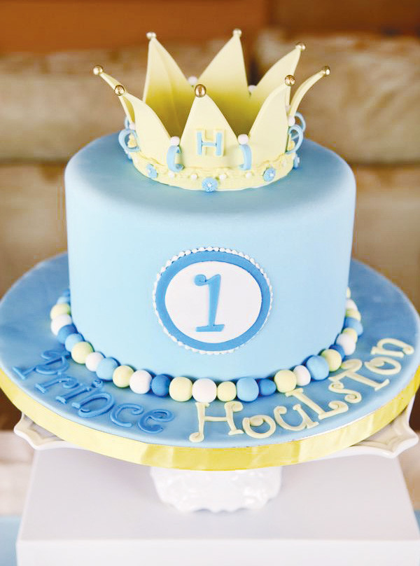 Prince Birthday Cake  Royally Sweet Little Prince Birthday Party Hostess with