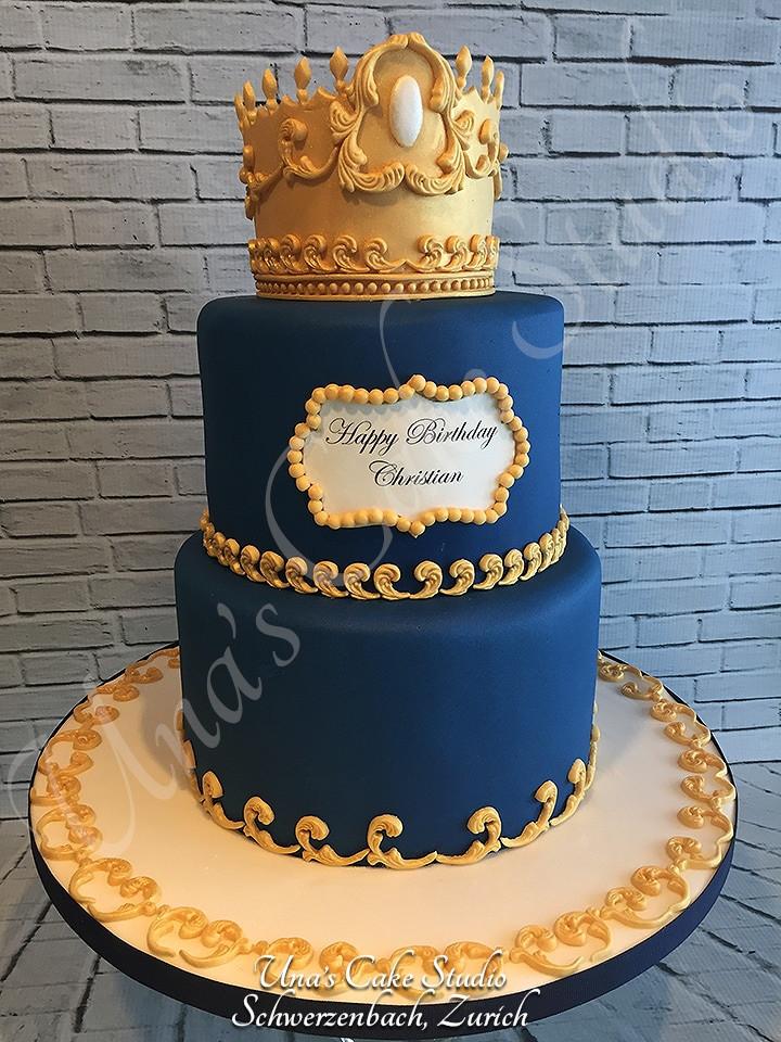 Prince Birthday Cake  Custom Birthday Cakes for all ages Una s Cake Studio
