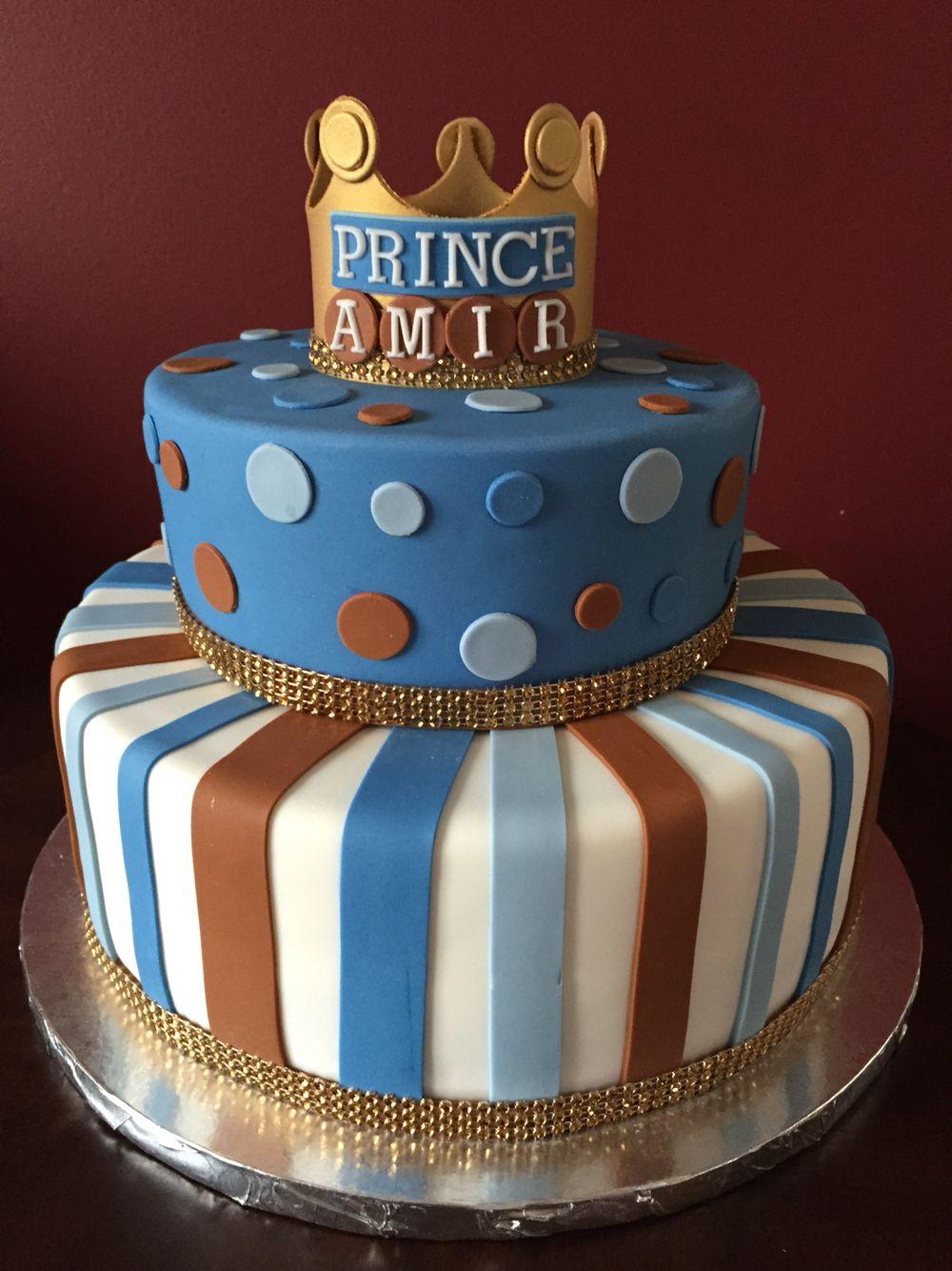 Prince Birthday Cake  Prince Crown Birthday Cake Birthday Cakes