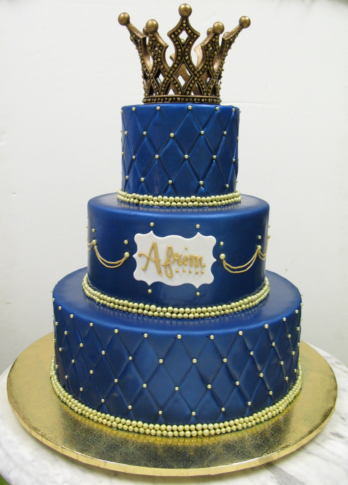 Prince Birthday Cake  —Royalty Prince & Princess – Mother Mousse