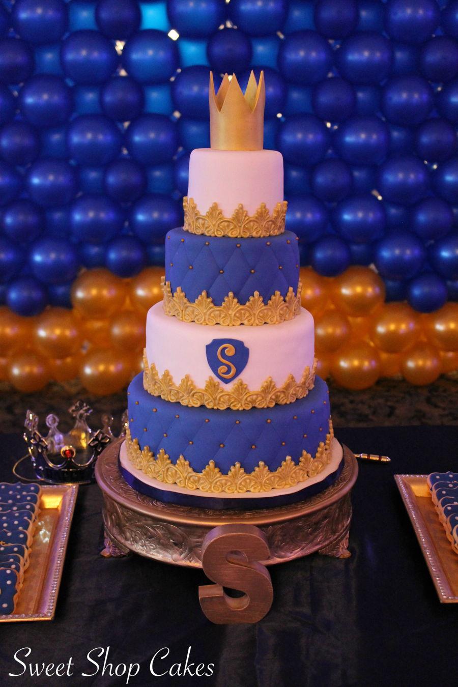 Prince Birthday Cake  Royal Prince Birthday Cake CakeCentral