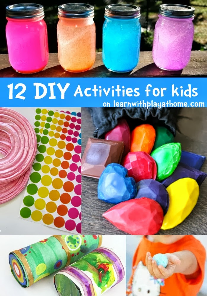 Projects For Kids At Home  Learn with Play at Home 12 fun DIY Activities for kids