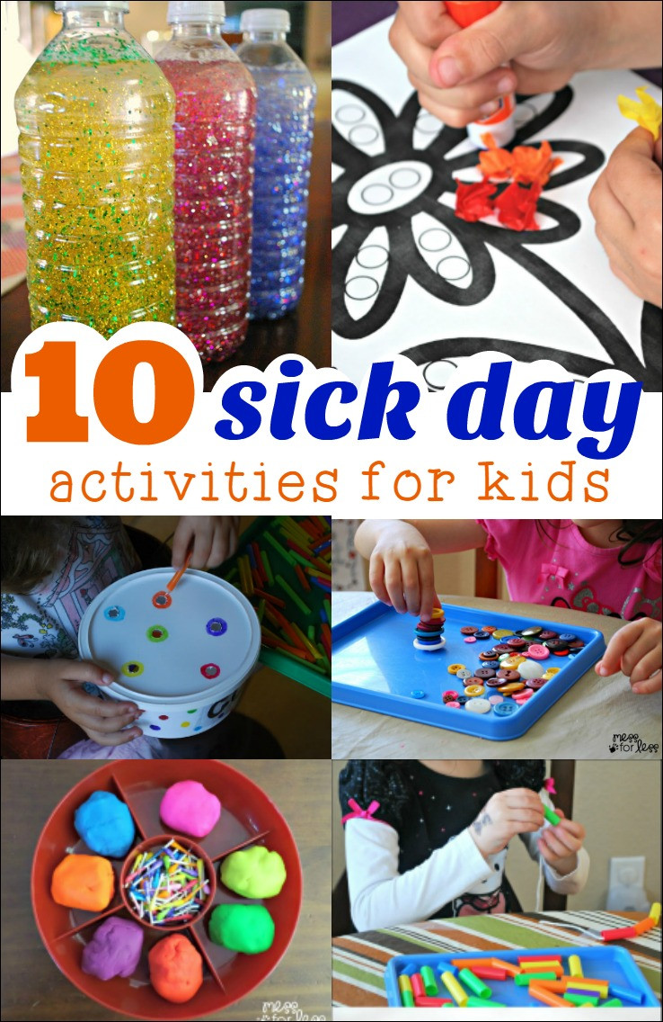 Projects For Kids At Home  10 Sick Day Activities Mess for Less