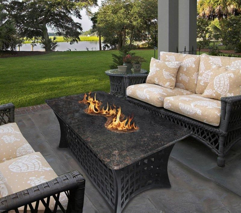 Propane Fire Pit Coffee Table  propane fire pit