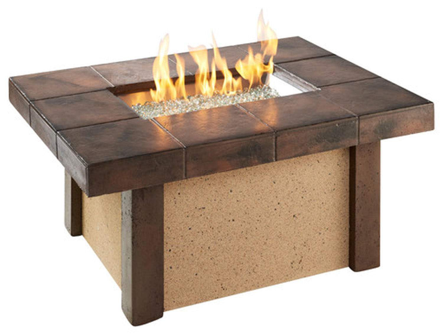 Propane Fire Pit Coffee Table  Outdoor Greatroom Rivers Edge Chat Height Gas Fire Pit