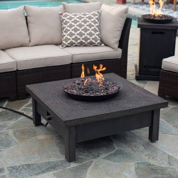 Propane Fire Pit Coffee Table  gas fire pit coffee table