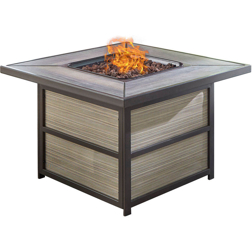 Propane Fire Pit Coffee Table  Hanover Chateau 40 000 BTU Gas Fire Pit Coffee Table CHATEA