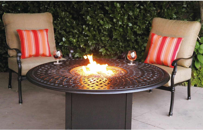 "Propane Fire Pit Table Set  Patio Furniture Deep Seating Set Cast Aluminum 52"" Propane"