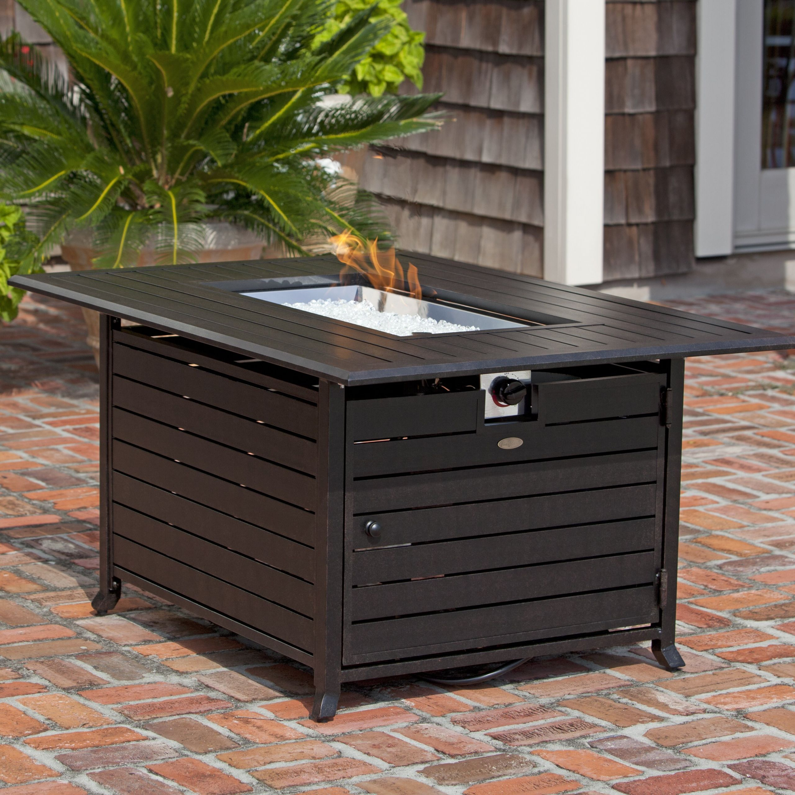 Propane Fire Pit Table Set  Fire Sense Extruded Aluminum Propane Fire Pit Table