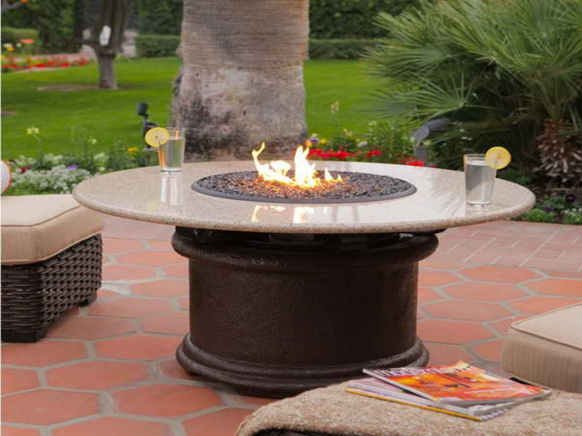 Propane Fire Pit Table Set  Gas Fire Pit Tables Lowes Table Costco Wood Burning