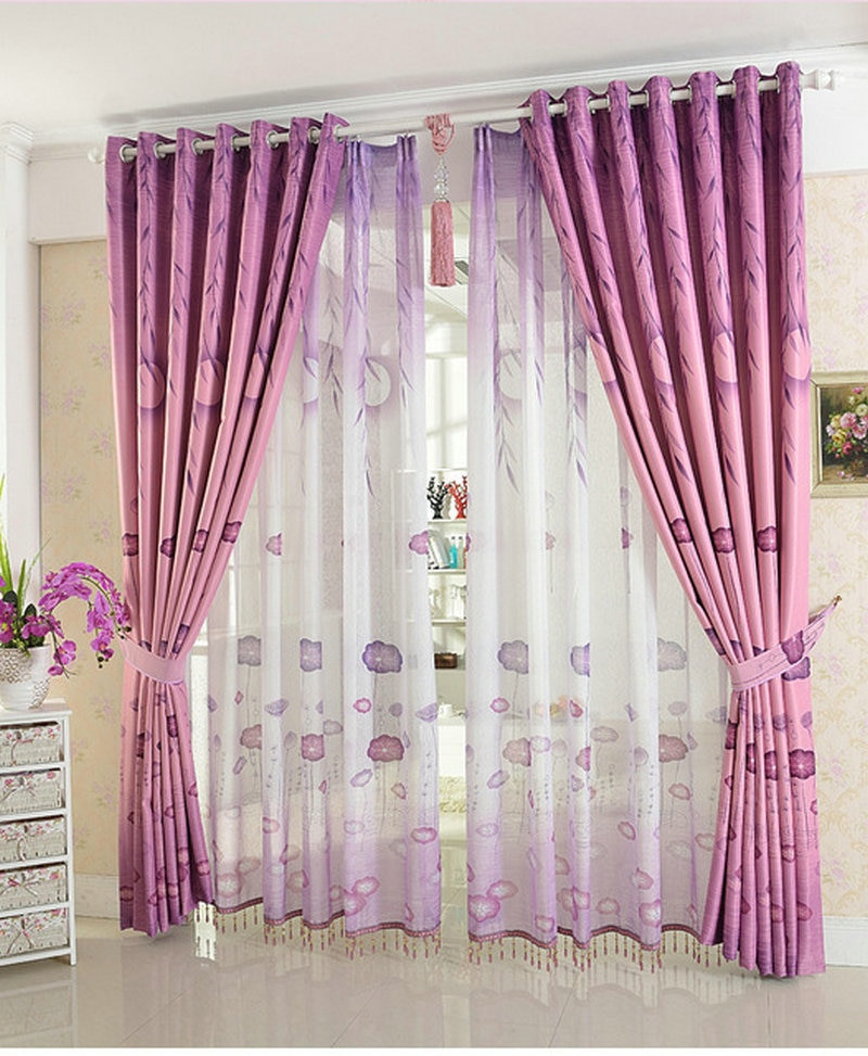Purple Curtains For Kids Room  Blackout Curtains For children kids bedding room living
