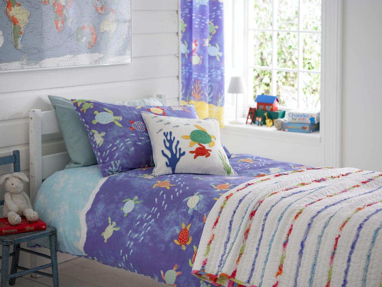 Purple Curtains For Kids Room  Details about Kids Nautical Seaside Boys Bedding Duvet