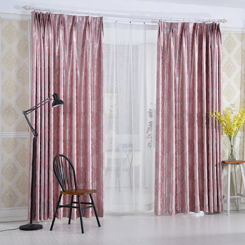 Purple Curtains For Kids Room  European Luxury Window Blackout Curtain for Living Room
