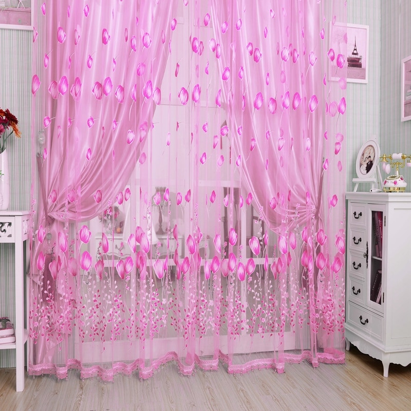 Purple Curtains For Kids Room  Modern Tulle Curtains For Living Room Purple Curtains For
