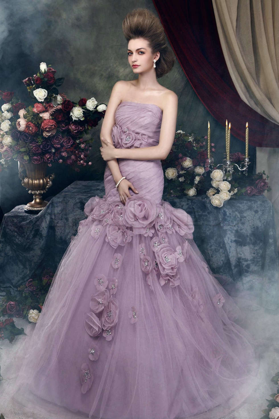 Purple Wedding Gown  So Charming on a Purple Wedding Gown