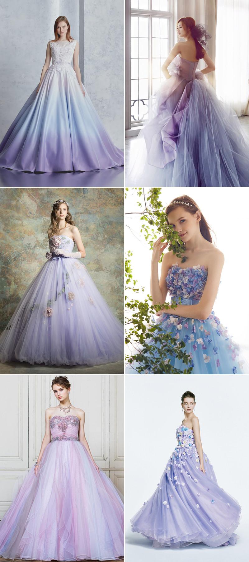 Purple Wedding Gown  30 Beautiful Purple Wedding Gowns For Modern Romantic