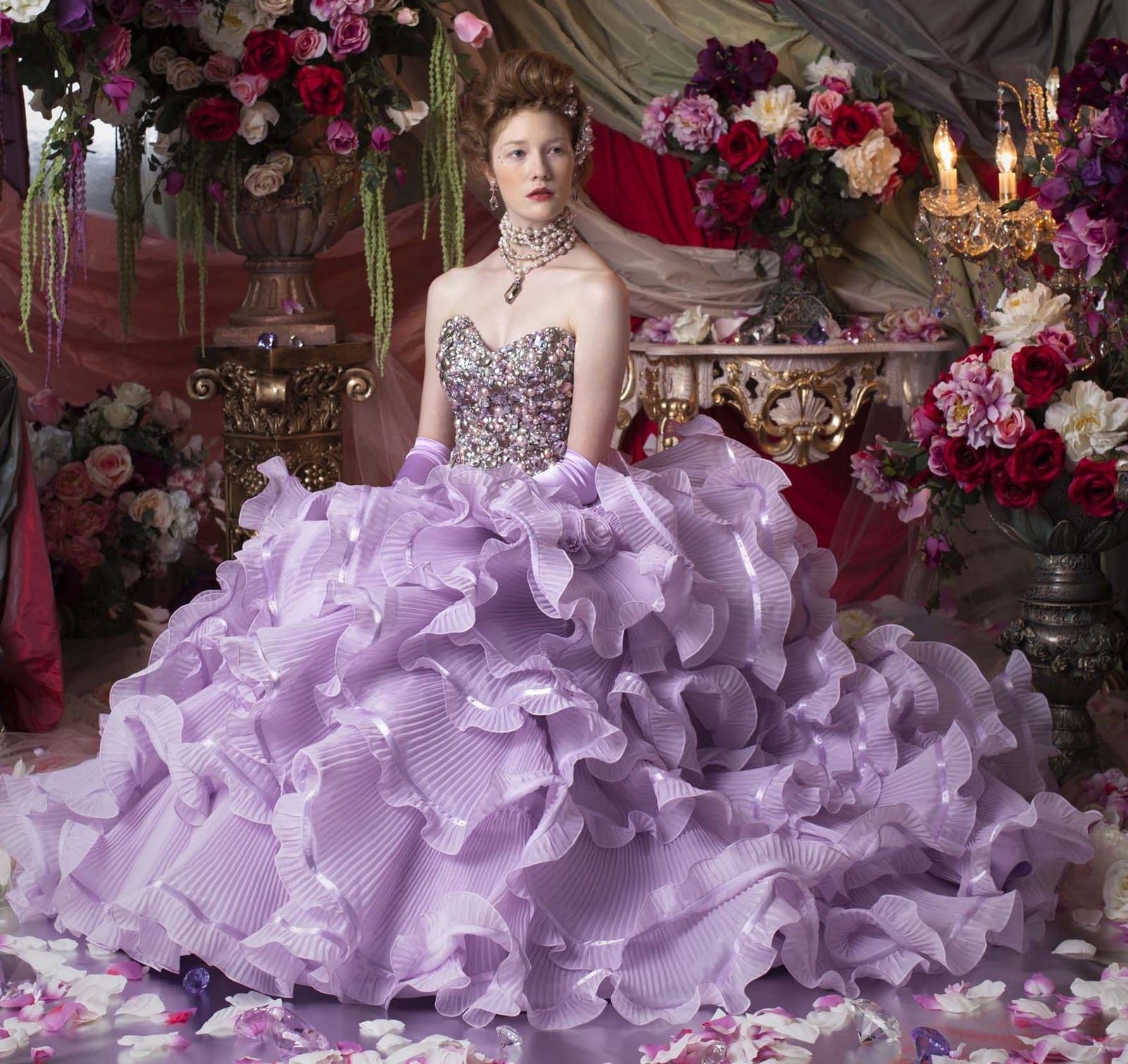 Purple Wedding Gown  I Heart Wedding Dress Purple Wedding Dress Ideas