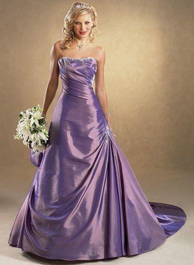 Purple Wedding Gown  The Dream Wedding Inspirations Stylish Purple Wedding Dress