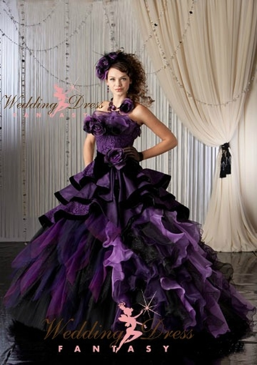 Purple Wedding Gown  Purple Bridal Gown