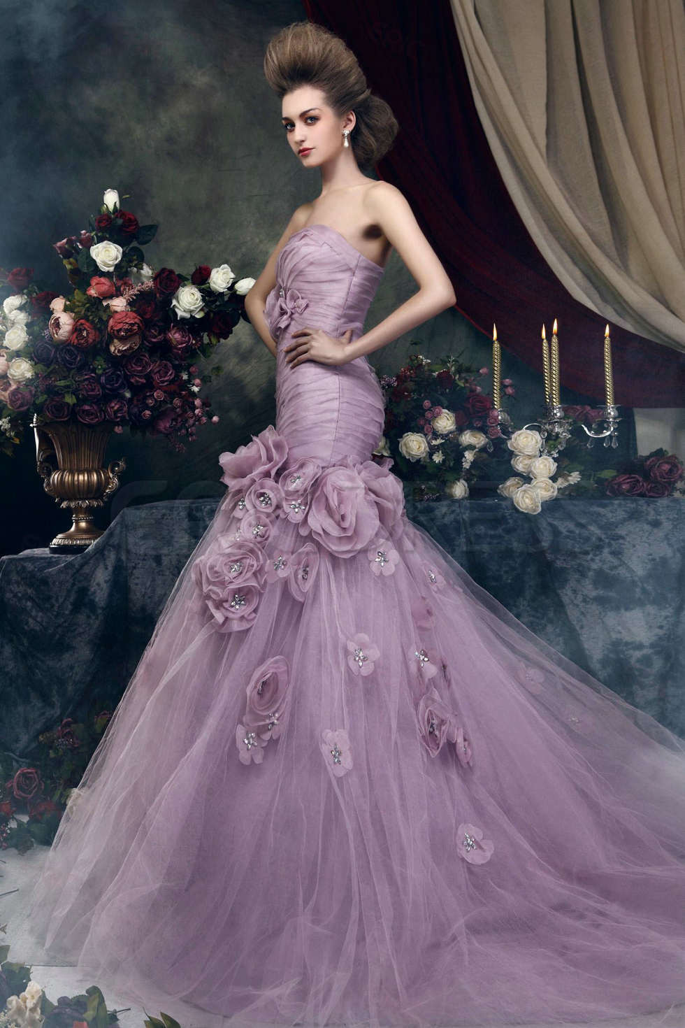 Purple Wedding Gown  Colored wedding dresses are more and more popular