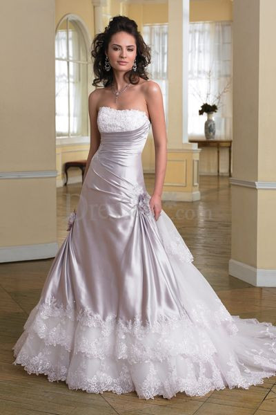 Purple Wedding Gown  Wedding Lady Light Purple Brilliant Wedding Dress