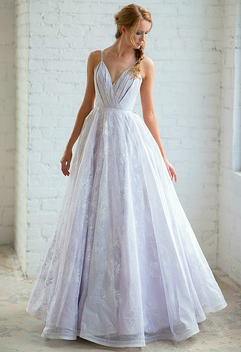 Purple Wedding Gown  20 Gorgeous Wedding Gowns in Shades of Purple