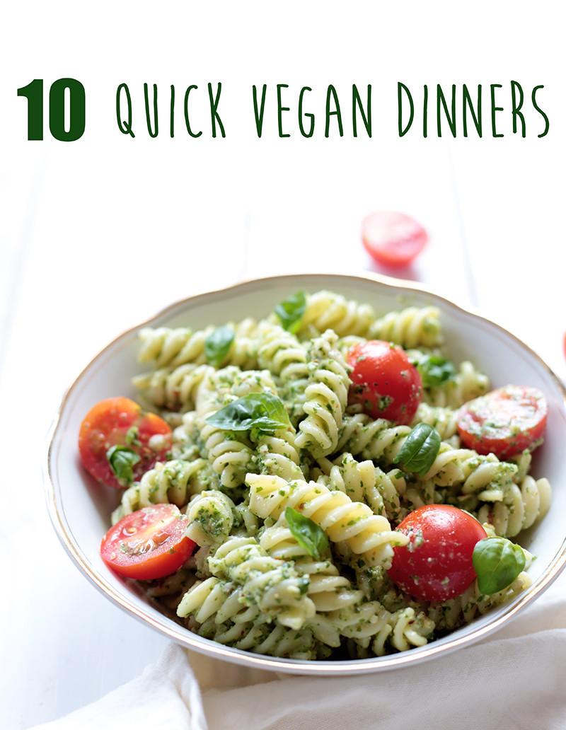 Quick And Easy Vegan Recipes  10 Quick Vegan Dinners Vegan Pesto Pasta Green Evi