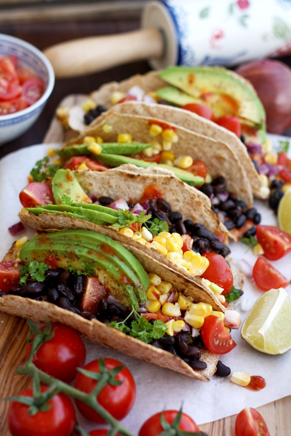 Quick And Easy Vegan Recipes  5 minute Easy Vegan Tacos • Happy Kitchen