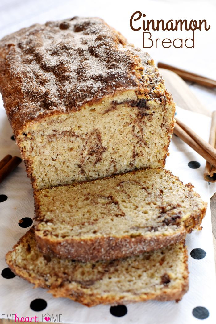 Quick Breakfast Recipes With Bread  Cinnamon Bread no yeast quick bread soft and sweet
