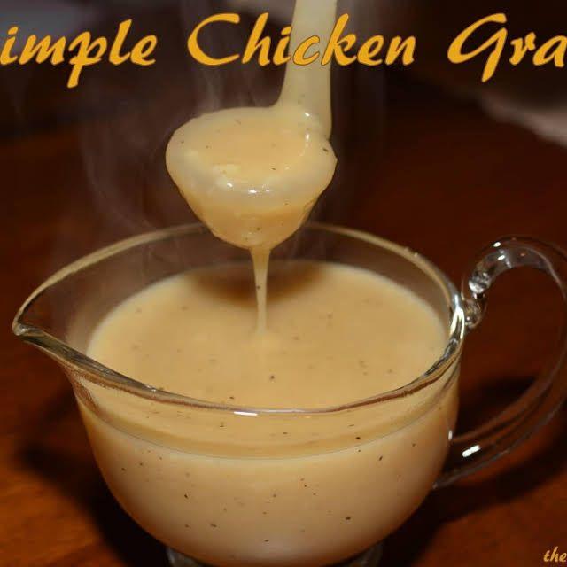 Quick Chicken Gravy  Simple Chicken Gravy Recipe in 2020